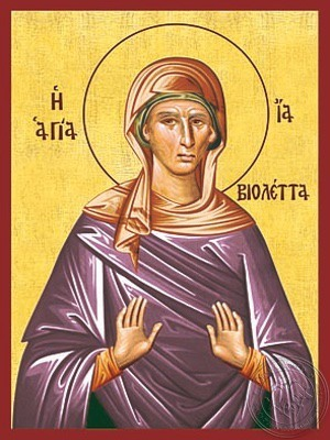 Saint Violet - Hand Painted Icon