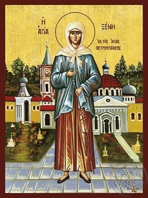 Saint Xenia of Saint Petersburg Fool For Christ Full Body - Hand Painted Icon