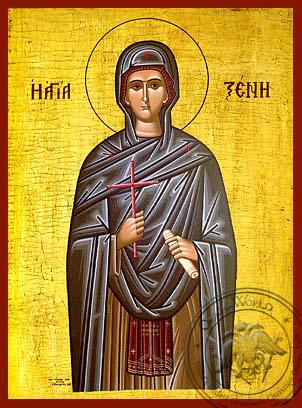 Saint Xene - Hand-Painted Icon