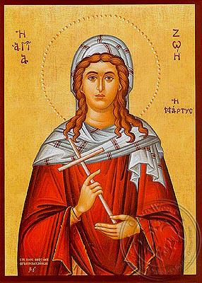 Saint Zoe, Martyr, at Attalia - Hand Painted Icon