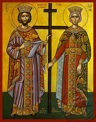 Saint Constantine and Helen - Hand-Painted Icon