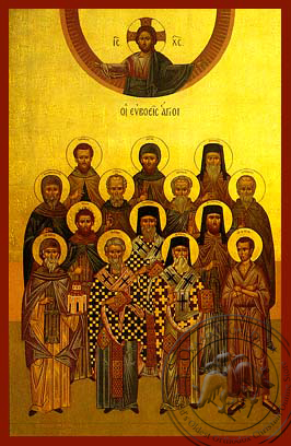 Saints from Euboea, Greece - Hand Painted Icon