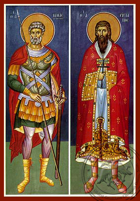 Saints Menas and Eustratios - Hand-Painted Icon
