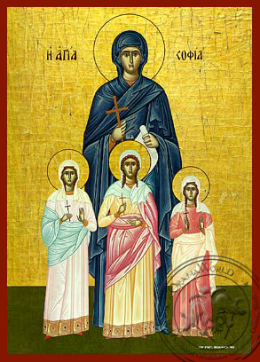 Saint Sophia and her Daughters - Hand-Painted Icon
