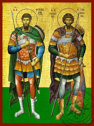 Saint Tiron & Sratilatis - Hand-Painted Icon