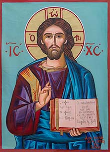 Christ - Original Hand Painted Modern Icon