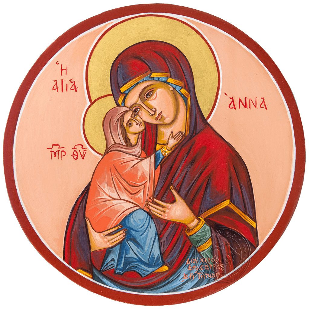 Saint Anne - Reproduction of Original Modern Icon