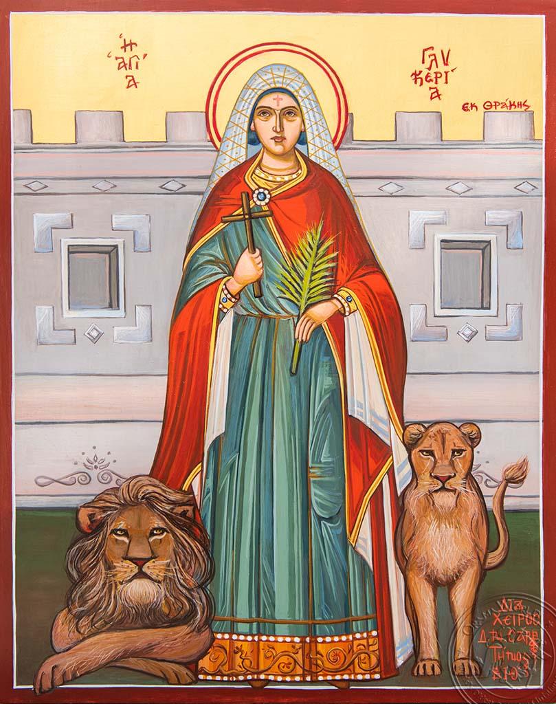 Saint Glykeria - Reproduction of Original Modern Icon