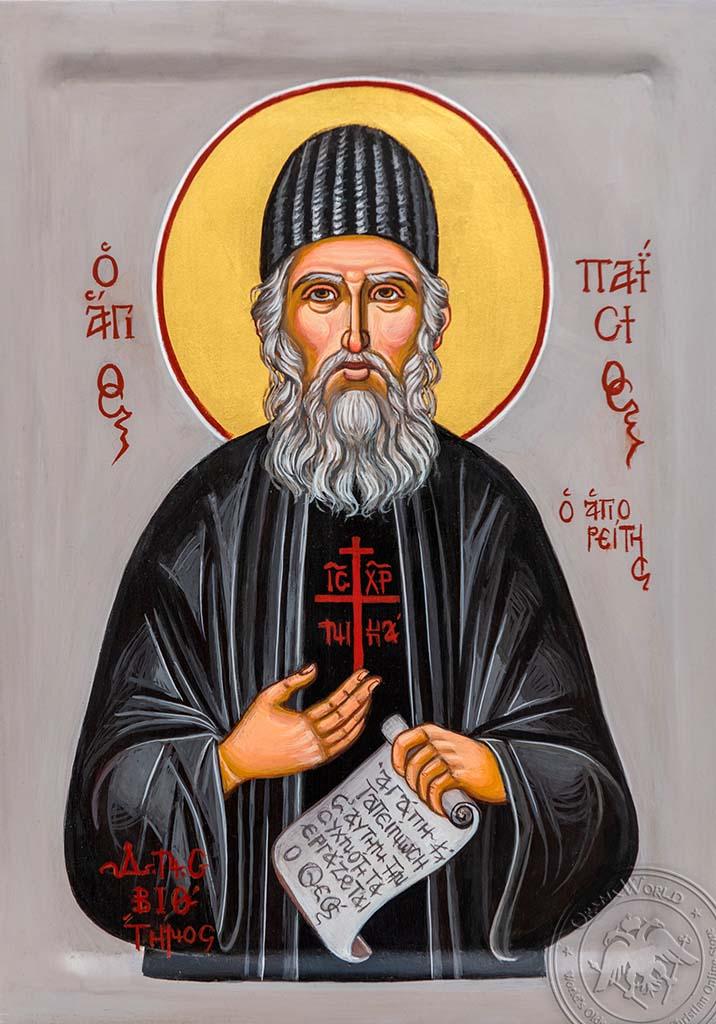 Saint Paisios - Reproduction of Original Modern Icon