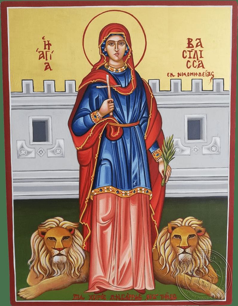 Saint Vasilissa - Reproduction of Original Modern Icon