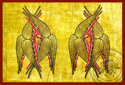 Six-Winged Seraphs - Hand Painted Icon