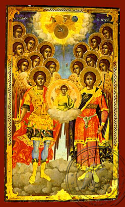 Synaxis of the Holy Archangels, Full Body - Hand Painted Icon