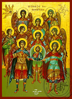 Synaxis of the Holy Archangels - Hand-Painted Icon