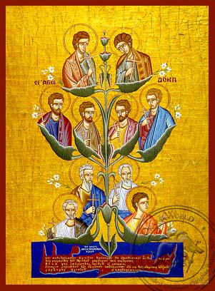 Ten Saints of Crete, Greece - Hand Painted Icon
