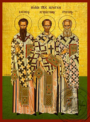 Three Holy Hierarchs - Hand-Painted Icon