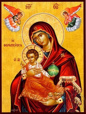 Virgin and Child Curer - Hand Painted Icon