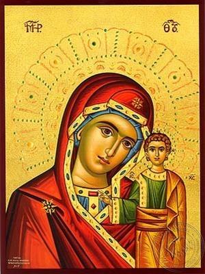 Virgin and Child Kazanskaya - Hand Painted Icon
