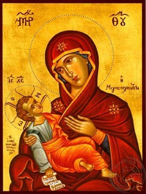 Virgin and Child Megaspelaeotissa (Great Cave) - Hand Painted Icon