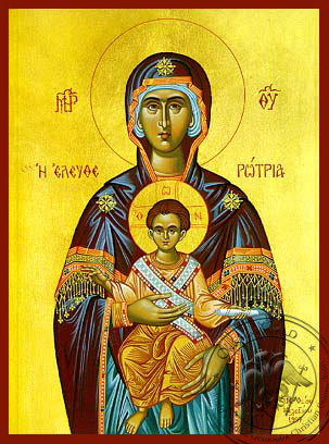 Virgin and Child, Eleutherotria - Hand Painted Icon