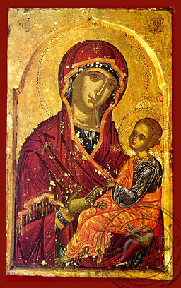 Panagia Joy of those who Grieve - Hand-Painted Icon
