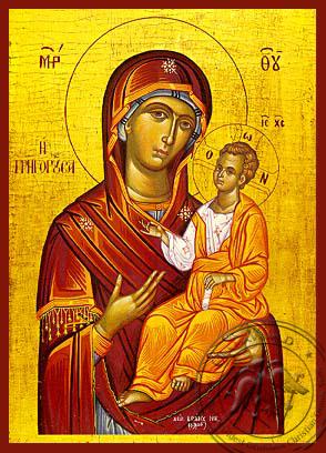 Panagia Grhgorousa - Hand-Painted Icon