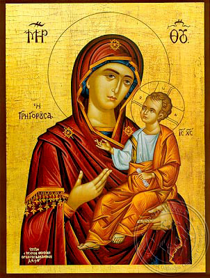 Virgin and Child, Hodegetria, Gregorousa - Hand Painted Icon