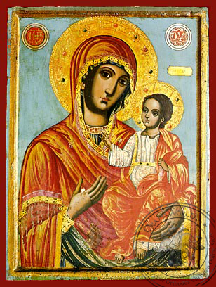 Virgin and Child, Hodegetria - Hand Painted Icon