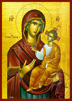Panagia :The Hope of the Faithfull - Hand-Painted Icon