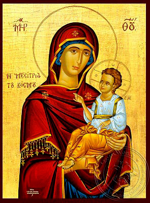 Virgin and Child, Hodegetria, Mediator of the World - Hand Painted Icon