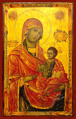 Virgin and Child, Hodegetria, Merciful - Hand Painted Icon