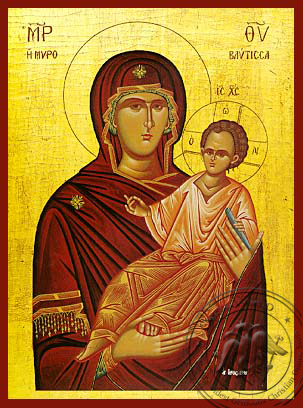 Panagia Spring of Myrrh - Hand-Painted Icon