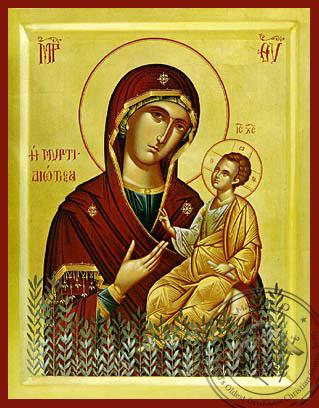 Panagia The Myrtidiotissa - Hand-Painted Icon