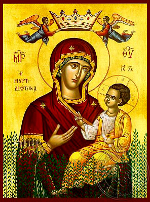 Virgin and Child, Hodegetria, of the Myrtle Tree - Hand Painted Icon