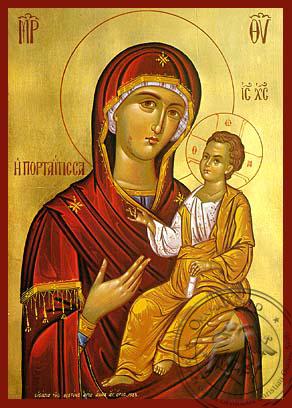 Panagia Portaitissa - Hand-Painted Icon