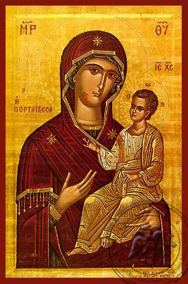 Virgin and Child, Hodegetria, Portaitissa (of the Portal), Iveron - Hand Painted Icon