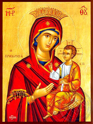Virgin and Child, Hodegetria, of Prousa, Greece - Hand Painted Icon