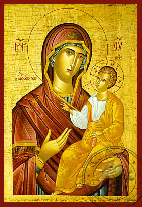 Panagia The Rescuer - Hand-Painted Icon