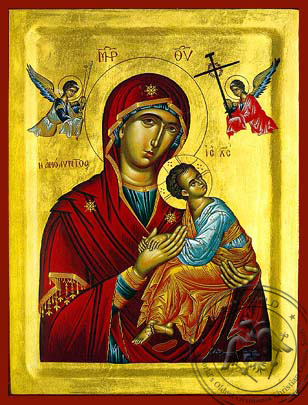 Virgin and Child, Immaculate - Hand Painted Icon