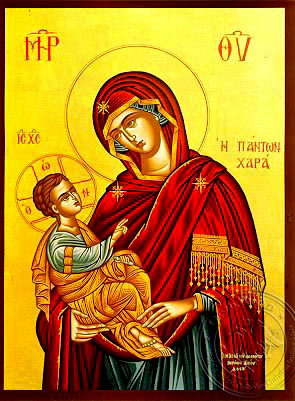 Virgin and Child, Joy of All - Hand Painted Icon