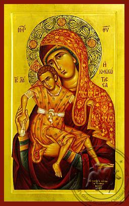 Panagia The Kykkotissa - Hand-Painted Icon