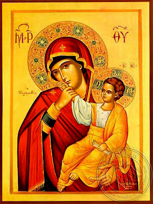 Virgin and Child, Paramythia - Hand Painted Icon