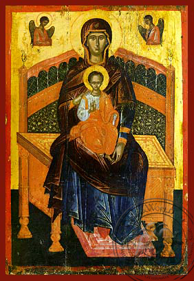 Panagia Lady of the Angels - Hand-Painted Icon