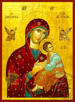 Virgin and Child, Queen of Angels - Hand Painted Icon