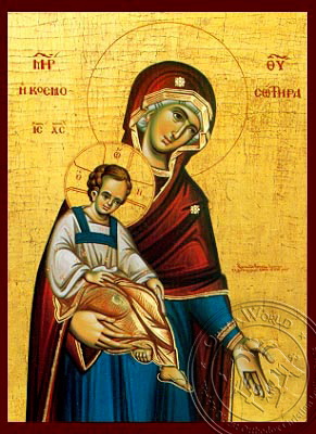 Panagia The Saviour of the World - Hand-Painted Icon