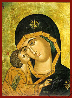 Panagia The Glykophilousa  of Don - Hand-Painted Icon