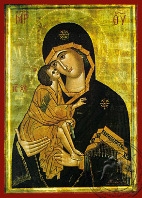 Virgin and Child, Sweet Kissing, of the Don - Hand Painted Icon
