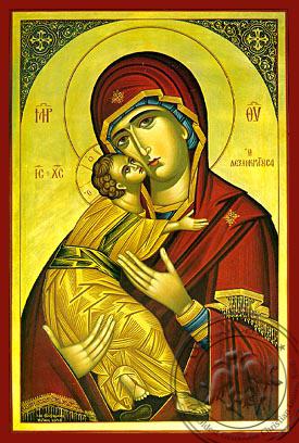 Panagia Glykophilousa  Dexiokratousa  - Hand-Painted Icon
