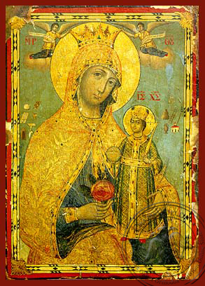 Virgin and Child, Unwithering Rose - Hand Painted Icon