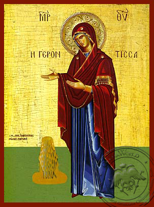 Panagia The Gerontissa - Hand-Painted Icon