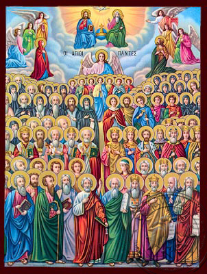 All Saints Divine Chorus - Nazarene Art Icon